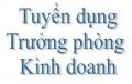 Tuyển TRƯỞNG PHÒNG KINH DOANH